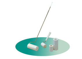 Conductive adhesive roller